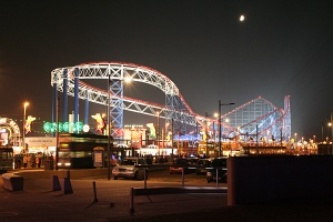 England: Blackpool - the Pepsi Max Big One by night