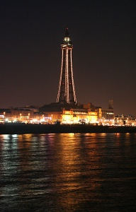 England: Blackpool Tower inspired by the Eiffel Tower in Paris