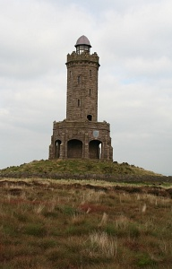 England: look-out tower on Darwen Hill
