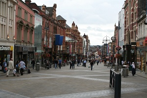 England: main shopping street in Leeds
