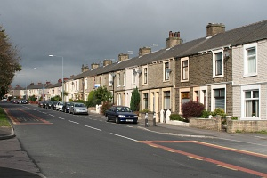 England: Terraced houses - very common in England and very exotic in Poland; Oswaldtwistle