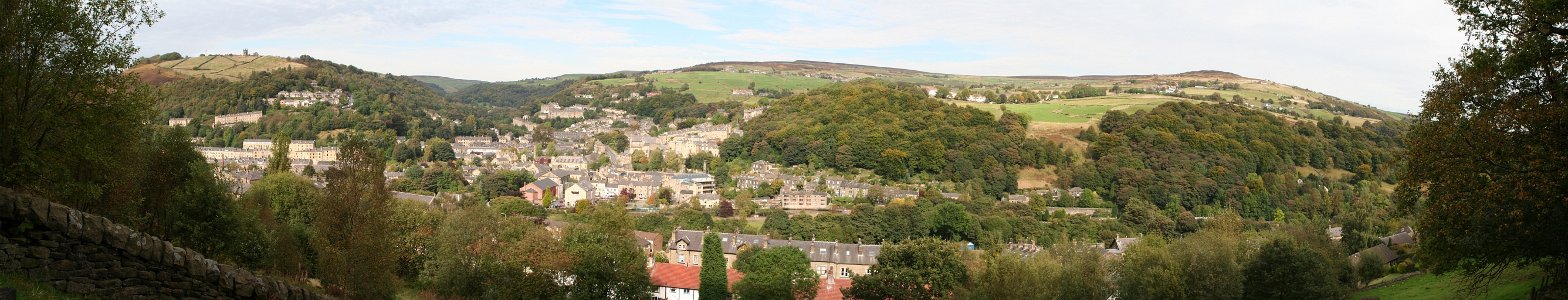 Panorama Hebden Bridge, West Yorkshire