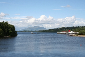 Loch Lomond seen from Balloch. Ben Lomond in background.