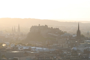 The Edinburgh Castle in the evening.